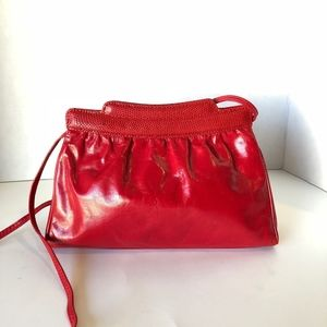 Vintage Red Neiman Marcus Leather Clutch